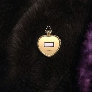 Accessories - gold heart shaped watch pendant